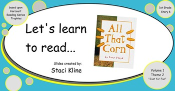 "Harcourt Trophies ""All That Corn"" Comprehensive Smartboard"