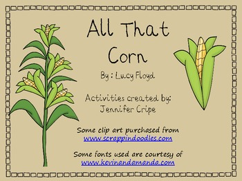 Harcourt Trophies ~ All That Corn story activities