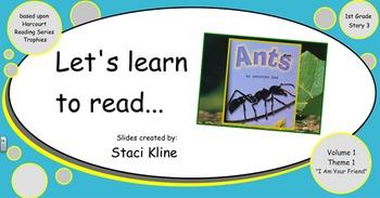 "Harcourt Trophies ""Ants"" Comprehensive Smartboard for 1st Grade"