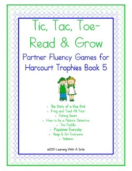 Harcourt Trophies FIRST GRADE Fluency (Book 5) Tic, Tac, Toe-Read & Grow