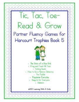 Harcourt Trophies FIRST GRADE Fluency (Book 5) Tic, Tac, T