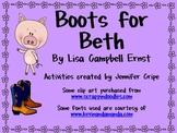 Harcourt Trophies ~ Boots for Beth story activities