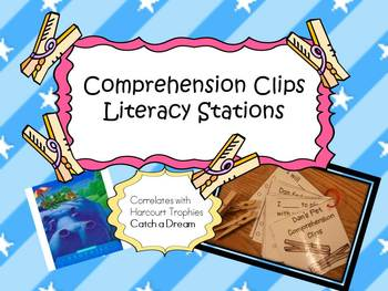 Harcourt Trophies Catch a Dream COMPREHENSION CLIPS Literacy Stations