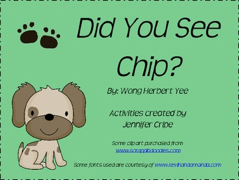Harcourt Trophies~ Did You See Chip? story activities