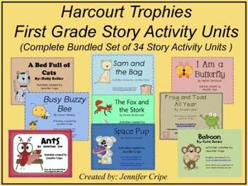 Harcourt Trophies First Grade Story Activity Units ~ Complete Set