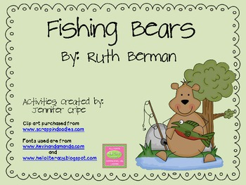 Harcourt Trophies ~ Fishing Bears story activities