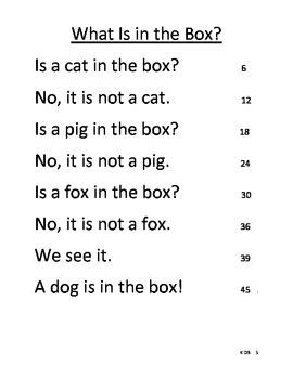 Fluency Reading Probes - KG