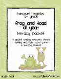 """Harcourt Trophies """"Frog and Toad All Year"""" Literacy Packet"""