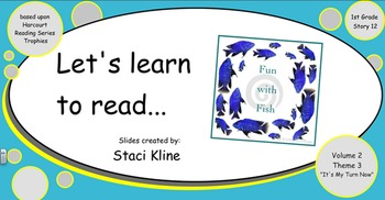 """Harcourt Trophies """"Fun With Fish"""" Comprehensive Smartboard for 1st Grade"""