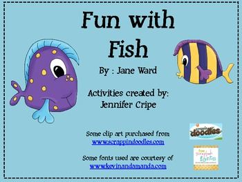 Harcourt Trophies ~ Fun with Fish Story activities