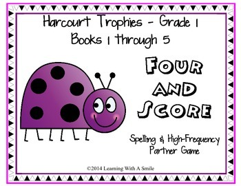 Harcourt Trophies FIRST GRADE Spelling & High Frequency Game: Books 1-5