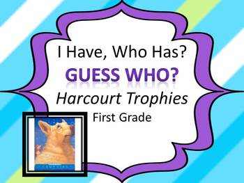 "Harcourt Trophies Guess Who ""I HAVE, WHO HAS?"" Sight Word Practice"