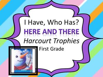 "Harcourt Trophies Here and There ""I HAVE, WHO HAS"" Sight Word Practice"