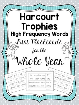 Harcourt Trophies High Frequency Words Mini Flashcards for the Whole Year