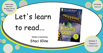 """Harcourt Trophies """"I Am a Butterfly"""" Comprehensive Smartboard for 1st Grade"""