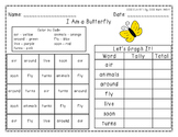 "Harcourt Trophies ""I Am a Butterfly"" - Find, Color, Graph Sight Word Practice"