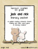 "Harcourt Trophies ""Jack and Rick"" Literacy Packet"