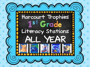 Harcourt Trophies Literacy Stations All Year First Grade - The Whole Enchilada!