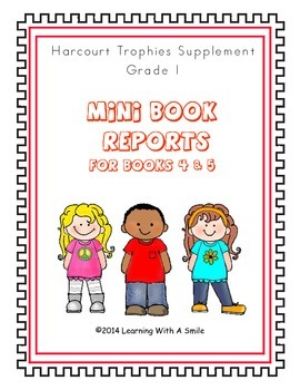 Harcourt Trophies First Grade Mini Book Reports (Books 4 & 5)