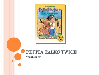 Harcourt Trophies Pepita Talks Twice Vocabulary Powerpoint