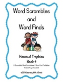 Harcourt Trophies ~ Scrambled Words & Word Finds for Book 4 ~ Grade 1