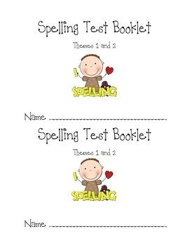 Harcourt Trophies Spelling Test Booklet - 1st Grade