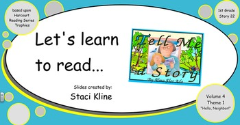 "Harcourt Trophies ""Tell Me a Story"" Comprehensive Smartboard 1st Grade"