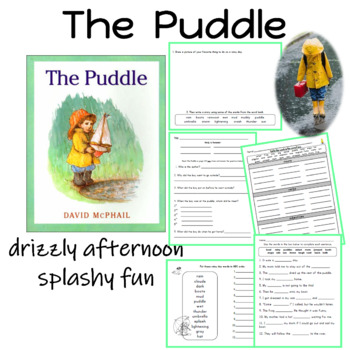 Literacy Unit for The Puddle by David McPhail
