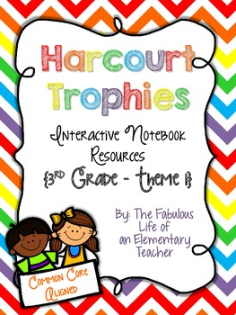 3rd Grade Harcourt Trophies Theme 1 Interactive Notebook Resources {Common Core}