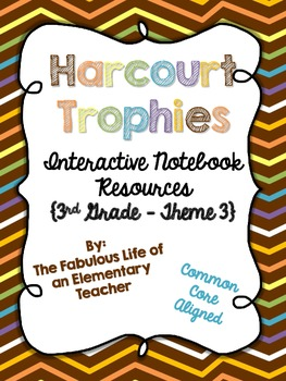 3rd Grade Harcourt Trophies Theme 3 Interactive Notebook Resources {Common Core}