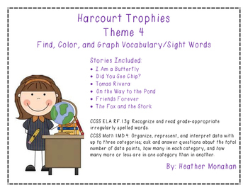 Harcourt Trophies Theme 4 - Find, Color, Graph Sight Word