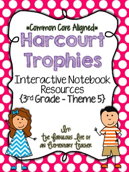 3rd Grade Harcourt Trophies Theme 5 Interactive Notebook Resources {Common Core}