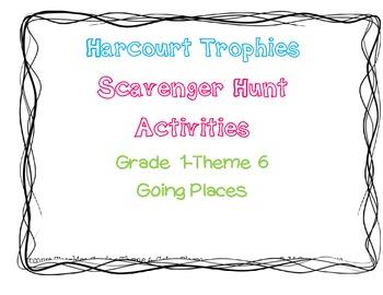 Harcourt Trophies Theme 6 Grade 1 Scavenger Hunt *BUNDLE*