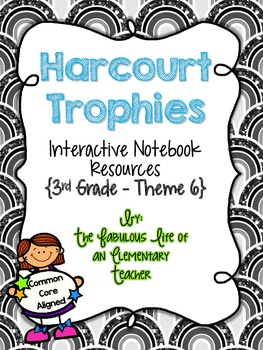 3rd Grade Harcourt Trophies Theme 6 Interactive Notebook Resources {Common Core}