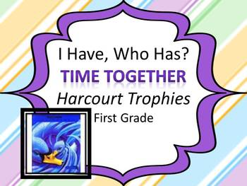 """Harcourt Trophies Time Together """"I HAVE, WHO HAS?"""" Sight Word Practice"""