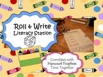 Harcourt Trophies Time Together ROLL & WRITE SPELLING Literacy Stations