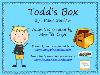 Harcourt Trophies ~ Todd's Box story activities