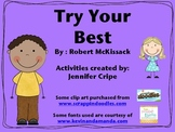 Harcourt Trophies ~ Try Your Best story activities