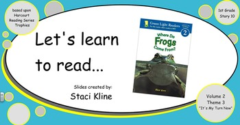 """Harcourt Trophies """"Where Do Frogs Come From"""" Comprehensive Smartboard 1st Grade"""
