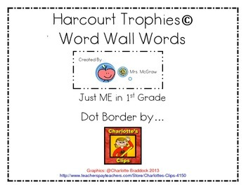 Harcourt Trophies Word Wall Sight Word Cards 1st Grade