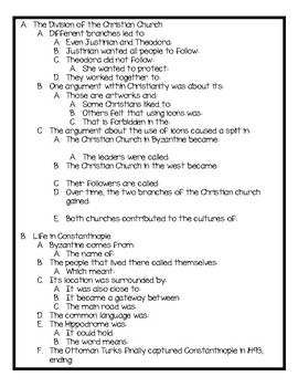 Harcourt World History Chapter 13 Notes and Activities for Students!