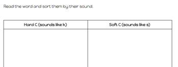 Hard C/Soft C Phonics Game Bundle