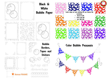 Clean Edge Bubble Digital Paper Pack *41 clips* (Personal & Commercial Use)