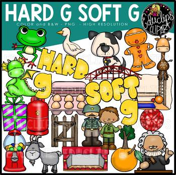 Hard G Soft G Clip Art Bundle