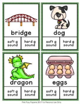 Hard G Soft G Clip Cards