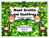 Beginning Sounds Hard G and Soft G File Folder Activity