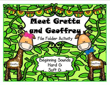 Beginning Sounds Hard G and Soft G File Folder Activity