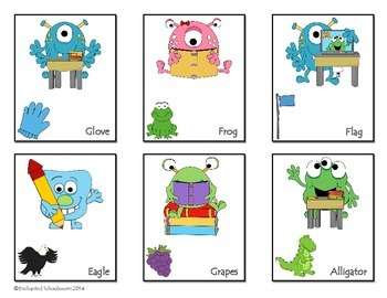 Hard G and Soft G Monsters Card Game