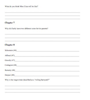 Hard Gold by Avi Comprehension Questions and Vocabulary Guide