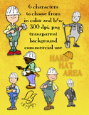 Hard Hat Area Clip Art - Commercial Clip Art for Classroom